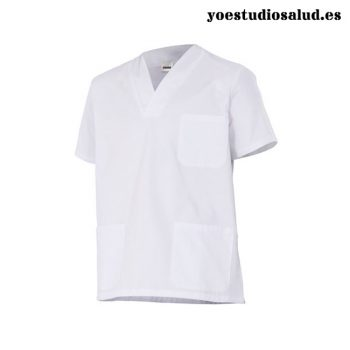 WHITE MEDICAL SCRUB TOP