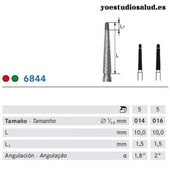 FRESA DE DIAMANTE KOMET 844