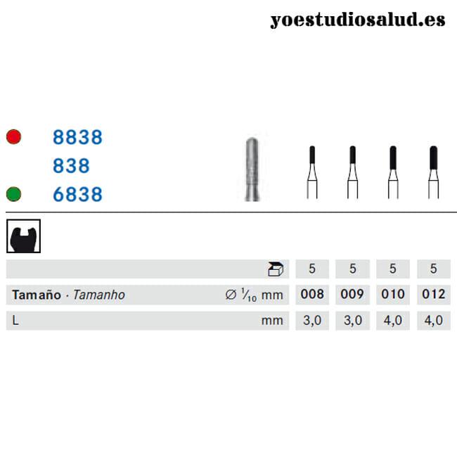 FRESA DIAMANTE KOMET FORMA 838