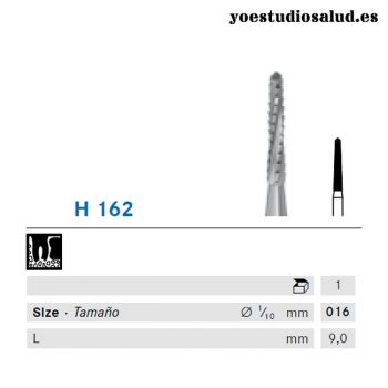 KOMET SHAPE 162 CARBIDE TUNGSTEN BUR FOR CONTRA ANGLE (LINDEMAN)