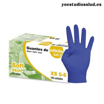 4GASA GUANTE NITRILO SOFT-SKIN SIN POLVO TALLA M(100 UND.)